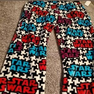 Womens Star Wars Fleece Pajama Pants Sz L Lucas Fl